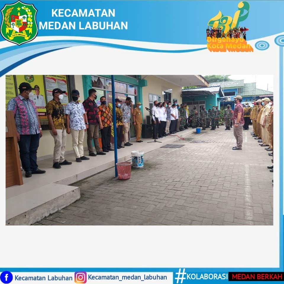 Himbauan PPKM Darurat di Kecamatan Medan Labuhan