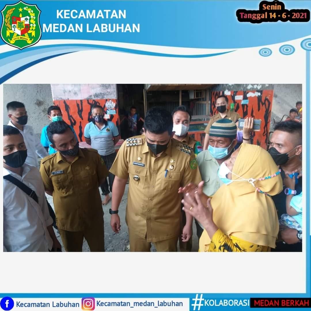 Pak Walikota Meninjau Lokasi Jalan Rusak di Kecamatan Medan Labuhan
